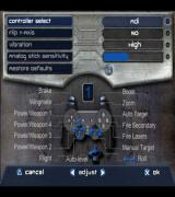 Star Wars: Jedi Starfighter PlayStation 2 The controller configuration