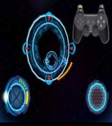 Star Wars: Jedi Starfighter PlayStation 2 The first training mission is to fly through a series of rings. The L1 button, highlighted, applies the brakes, R1 extra thrust, Left stick steers and the right stick rolls the craft
