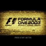 Formula One 2003 PlayStation 2 The title screen