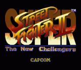 Super Street Fighter II SNES Title screen