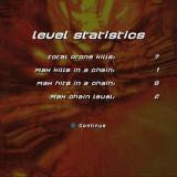 Alter Echo PlayStation 2 The end of level statistics screen for level one