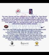 Tiger Woods PGA Tour 2001 PlayStation 2 The first game screen consists of logos and licensing information. This is followed by a very short animated sequence