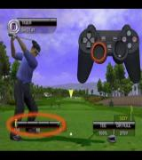 Tiger Woods PGA Tour 2001 PlayStation 2 The game has three tutorials, Basic Swing, Advanced Swing, and Putting. This is from the Basic Swing video and shows the power bar increasing as the club is swung back