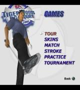 Tiger Woods PGA Tour 2001 PlayStation 2 These are the game modes that are available.