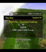 Tiger Woods PGA Tour 2001 PlayStation 2 The Play Now option on the main menu takes the player to a series of challenges.