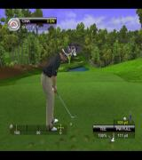 Tiger Woods PGA Tour 2001 PlayStation 2 Playing one of the Play Now challenges. Here the layer is preparing to tee-off. Just behind the player's head is the target marker, a yellow triangle<br>This is on the Spyglass Hill course