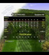 Tiger Woods PGA Tour 2001 PlayStation 2 The end of one of the Play Now scenarios<br>It did not go well
