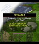 Tiger Woods PGA Tour 2001 PlayStation 2 The start of a tournament. This is the screen that the player sees while the game loads.