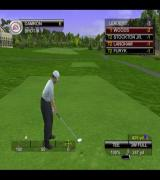 Tiger Woods PGA Tour 2001 PlayStation 2 Preparing to tee off in a tournament at Pebble Beach<br>Because this is a tournament there's an extra information box in the top right