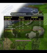 Tiger Woods PGA Tour 2001 PlayStation 2 The scoreboard from a tournament
