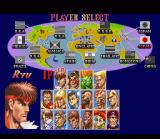 Super Street Fighter II SNES Character select