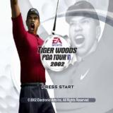 Tiger Woods PGA Tour 2002 PlayStation 2 The title screen