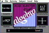 Alge-Blaster Plus! Apple II Main menu