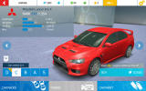 Asphalt: Nitro Android The Lancer Evo X in the garage screen