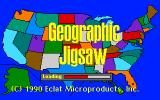 Geographic Jigsaw USA Apple IIgs Loading screen