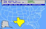 Geographic Jigsaw USA Apple IIgs Once placed some info is shown