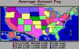 Geographic Jigsaw USA Apple IIgs GeoPuzzle USA: Stat maps - Annual pay