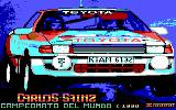 Carlos Sainz DOS Title Screen