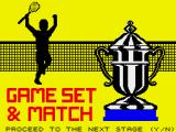 Tournament Tennis ZX Spectrum Stage completed.
