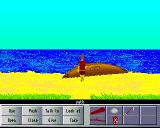 Lost on Parrot Island Amiga A life boat