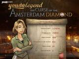 Youda Legend: The Curse of the Amsterdam Diamond Windows Game Over.<br>Back at the main menu screen there's an option to see the game statistics. As this screen shows it's not an especially long game