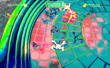 Assault Android Cactus Windows Playing a game with the EX options for an AI partner and psychedelic visuals.