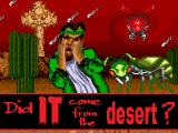 Did IT come from the desert? Amiga Title screen