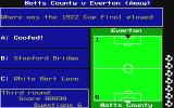 The Official Everton F.C. Intelligensia Amiga Wrong answers leads to conceded goals