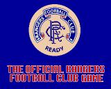 The Rangers Football Game Amiga Title screen