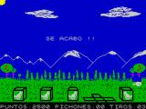 Tiro de Pichon ZX Spectrum Game over.