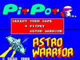 Astro Warrior / Pit Pot SEGA Master System Game Selection Screen