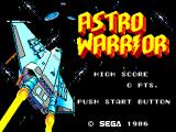 Astro Warrior / Pit Pot SEGA Master System Astro Warrior: Title
