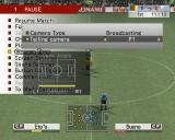World Soccer: Winning Eleven 8 International Windows During a game the player can pause the game and adjust many options, here a new camera angle is being selected