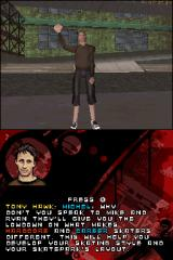 Tony Hawk's Proving Ground Nintendo DS Tony Hawk is giving a tutorial for you.