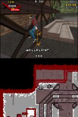 Tony Hawk's Proving Ground Nintendo DS Wallplant trick.