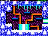Rick Dangerous 2 ZX Spectrum Level 2 - The Ice Caverns of Freezia: a secret chamber.