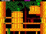 Rick Dangerous 2 ZX Spectrum Level 3 - Forests of Vegetablia: reached the treetop, the last scenario of this level.