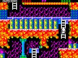 Rick Dangerous 2 ZX Spectrum Level 4 - The Atomic Mud Mines: you have to put yourself in eagle mode, each container can have a deadly arm/claw inside it.