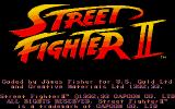 Street Fighter II DOS Title Screen