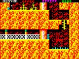 Rick Dangerous 2 ZX Spectrum Level 4 - The Atomic Mud Mines: <i>Rick Dangerous 2<i> uses a palette with dithering (like in typography), creating the illusion of more colours.