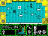 Cosmic Relief: Prof. Renegade to the Rescue ZX Spectrum Zero gravity room. I notice that these mummies looking alike as my character are spread all over the scenarios of the game.