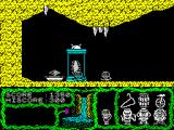 "Cosmic Relief: Prof. Renegade to the Rescue ZX Spectrum Got the <b>energy crystal</b> from the ""zero gravity"" room, and puzzow! <i>Scott me up Beam!</i>. I wonder if the mummies are also indicators of danger... hum..."