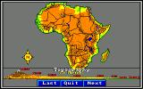 World Tour: Africa Amiga Topography map