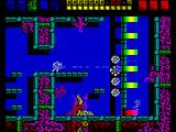 Rex ZX Spectrum Some walls at this level are deadly, the ones in magenta or red which resembling spiked plants or roots. The sponged enemies are dangerous foes...