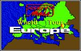 World Tour: Europe Amiga Title screen