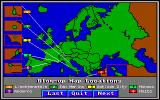 World Tour: Europe Amiga Map showing the tiny nations of Europe