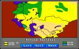World Tour: Russia and Western Asia Amiga Rainfall map