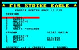 F-15 Strike Eagle Thomson TO Main menu