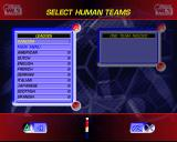 World League Soccer '98 PlayStation Setting up a match<br>The first step is to select a league. In addition to the leagues shown here there are also two International leagues