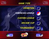 World League Soccer '98 PlayStation Setting up a game in the American League<br>In addition to the options shown here the menu scrolls vertically to offer Season, Practice and the Game Configuration Options